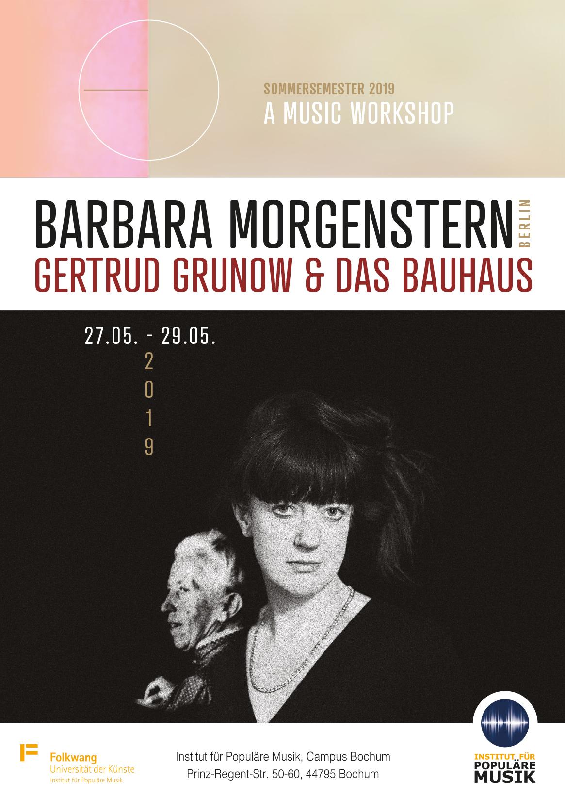 Barbara Morgenstern - Gertrud Grunow & das Bauhaus